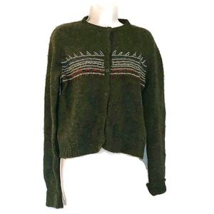 J. Crew Women's Sz PM Lambswool Cardigan Sweater